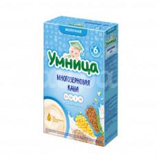 Детское питание Каша Умница 200гр Молочная Многозерновая с Абрикосом
