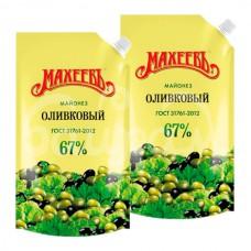 Майонез Махеев 67% 380гр Оливковый дой-пак