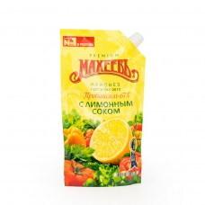 Майонез Махеев 67% 380гр Премиум Провансаль с Лимонным соком дой-пак