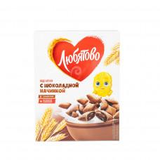 Завтрак сухой Любятово 250гр Шоколадные подушечки карт/уп