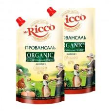 Майонез Mr.Ricco Organic 67% 375гр/400мл Провансаль дой-пак
