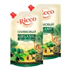 Майонез Mr.Ricco Organic 67% 375гр/400мл Оливковый дой-пак