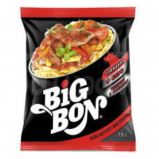 Лапша б/п Big Bon 75гр Говядина Соус томатный с базиликом пакет