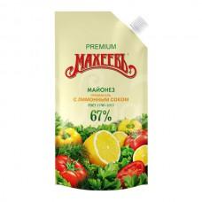 Майонез Махеев 67% 190гр Премиум с Лимонным соком дой-пак