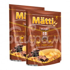 Мюсли Matti 250гр с Бананом и Шоколадом пакет