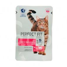 Корм для взрослых кошек Perfect Fit 85гр с Говядиной пауч
