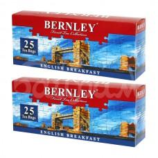 Чай Bernley 25*2гр Инглиш Брэкфаст Черный с/я