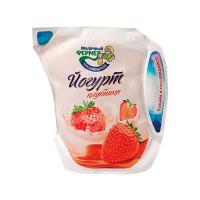 Йогурт Молочный Фермер  450гр Клубника кувшин