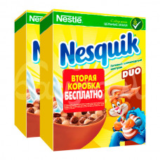 Готовый завтрак Несквик Дуо 250гр+250гр в подар Шоколад карт/уп