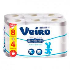 Бумага Туалетная Veiro Домашняя Белая 2сл 12шт