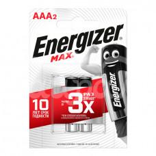 Батарейка Energizer Max 2шт AAA LR03 блистер