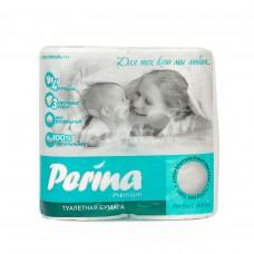 Бумага туалетная Perina Premium  3сл 4шт Perfect White
