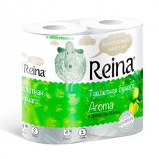 Бумага туалетная Reina Aroma 2сл 4шт Аромат яблока