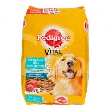 Корм для взрослых собак всех пород Pedigree 2.2кг с Говядиной пауч