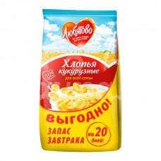 Завтрак готовый Любятово  600гр Хлопья кукурузные пакет