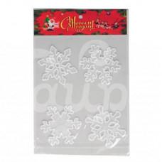 Наклейка силиконовая на окно Снежинки 5210231