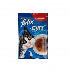Корм для кошек Felix 48гр Суп с Говядиной пауч