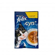 Корм для кошек Felix 48гр Суп с Курицей пауч