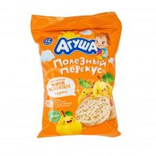 Детское питание Хлебцы мини Агуша 30гр Рисовые с Грушевым соком пакет