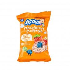 Детское питание Хлебцы мини Агуша 30гр Рисовые с Ягодным соком пакет