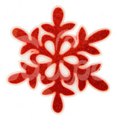 Наклейка на стекло 15*15.5см  Снежинка красная 1399713