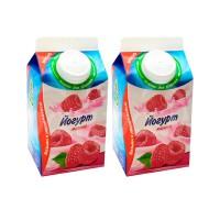 Йогурт Молочный Фермер  450гр Малина пюр-пак