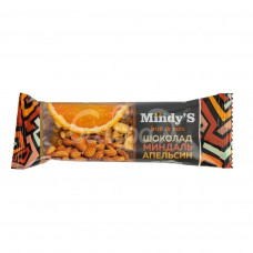 Батончик Mindy's 35гр Шоколад Миндаль Апельсин
