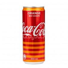Вода Кока Кола Зеро 0.33л Апельсин ж/б