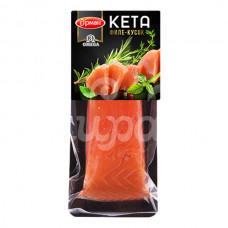 Кета Гурман 150гр х/к филе-кусок с кожей в/у