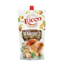Майонез Mr.Ricco 50% 375гр Белый гриб дой-пак
