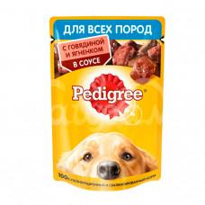 Корм для взрослых собак всех пород Pedigree 85гр Говядина Ягненок пауч