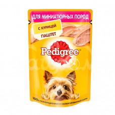 Корм для взрослых собак мини пород  Pedigree 80гр Паштет Курица пауч