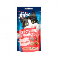 Корм для кошек Felix 60гр  Хрустящее лакомство Говядина пауч