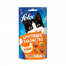 Корм для кошек Felix 60гр  Хрустящее лакомство Курица пауч