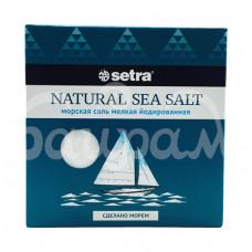Соль Setra 500гр Морская мелкая йодированная карт/уп