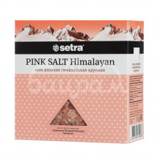 Соль Setra 500гр Розовая крупная  гималайская каменная карт/уп