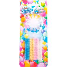 Свечи для торта Страна Карнавалия Яркая полоска 24шт 12 подс 1670209