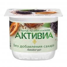 Биойогурт Активиа 2.9% 150гр Чернослив Финик Семена льна пл/ст