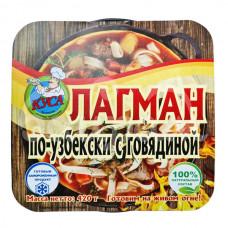 Лагман 420гр по-Узбекски говядина Кусинские Готовые Продукты