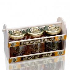 Набор медовый Ларец Башкирский Мед 3*250гр Сборно-Цвет Греч Лип дер/уп