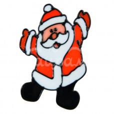 Наклейка на стекло 10*13см Дед Мороз счастливчик 1399683