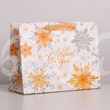 Пакет Волшебные Снежинки 23*18*10см Горизонтальный 4843418