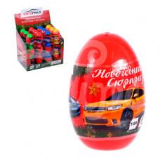 Машина Автоград Новогодний сюрприз Металлическая в яйце микс 4194410