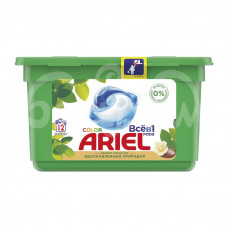 Капсулы для стирки Ариель 12*23.8гр Color Масло ши контейнер
