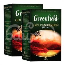 Чай Greenfield 100гр Golden Ceylon Черный Листовой