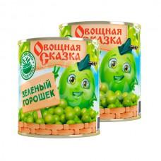 Горошек зеленый Овощная Сказка 310гр ж/б