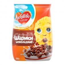 Завтрак сухой Любятово 200гр Шоколадные шарики пакет