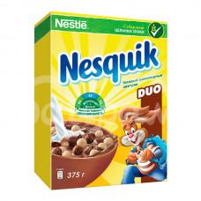 Завтрак сухой Несквик Дуо 375гр  Шоколадные шарики карт/уп