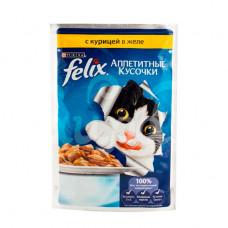 Корм для кошек Felix 85гр Курица Желе пауч