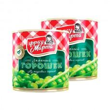 Горошек зеленый Фрау Марта 310гр ГОСТ ж/б